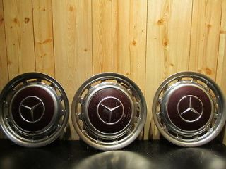MERCEDES BENZ WHEEL COVER GROUP 14 3 pcs DARK RED OE FULL WHEEL