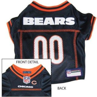 Chicago BEARS BLUE MESH Pet Dog JERSEY with NFL PATCH XS S M L XL