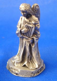 franklin mint pewter figure nativity 1980 angel