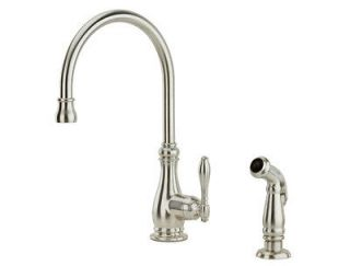 Price Pfister Alina Kitchen Faucet with Sidespray, Stainless Steel