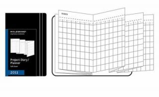 Moleskine 2011 12 Month Project Planner Black Soft Cover Pocket by