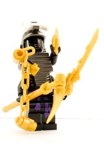 Newly listed LEGO Ninjago Lord Garmadon minifigure with GOLDEN WEAPONS