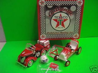 Texaco Gendron PEDAL CAR Truck RACE HAULER SET Crown Premiums 1 of