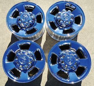 DODGE 2500 3500 RAM HEMi CUMMINS OEM stock FACTORY 17 CHROME WHEELS