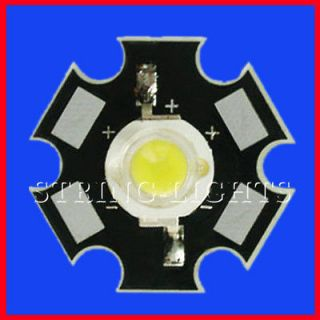 White High Power Star LED Lamp Light 3W 3 Watt 220 240LM 10000K CCT