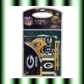 green bay packers school supplies notebook pencils folder eraser and