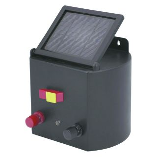 new solar powered electric fence charger horse cattle time left