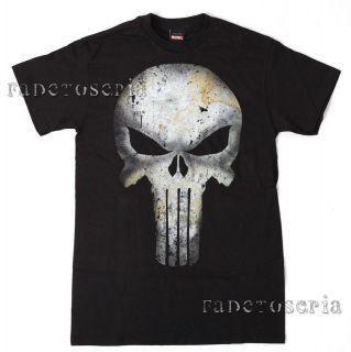 PUNISHER SKULL LOGO T SHIRT TEE LICENSED MARVEL COMICS OFFICIAL MEN