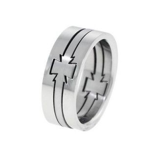 maltese cross men stainless steel puzzle ring size 13 time