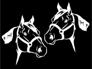 Mirrored Quarter Horse Head car window laptop trailer decal sticker