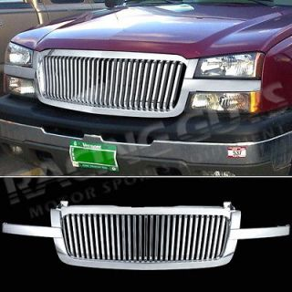 NEW CHEVY PICKUP TRUCK FRONT VERTICAL STYLE 1PC CHROME GRILL GRILLE