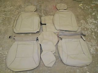 10 Chevrolet Impala New Sand Beige Premium Leather Seat Upholstery kit