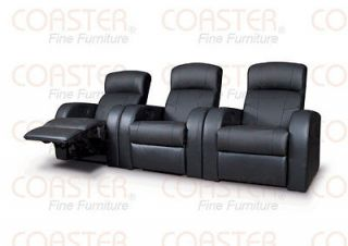 MOVIE HOME THEATER SEATS LEATHER RECLINERS 7 CHAIRS 5 WEDGES
