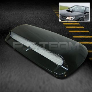 JDM RACING IMPREZA STYLE BLACK SPORT TURBO AIR FLOW FRONT HOOD SCOOP