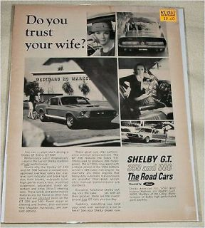 1967 ford shelby mustang fastback car ad