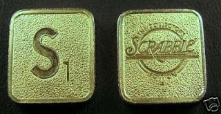 franklin mint scrabble game gold plated s tile time left