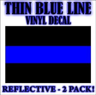 thin blue line decal sticker police sheriff fop law