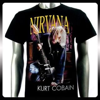 nirvana kurt cobain rock punk music men t shirt sz xl
