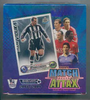 2008 09 topps match attax box of 24 packets from