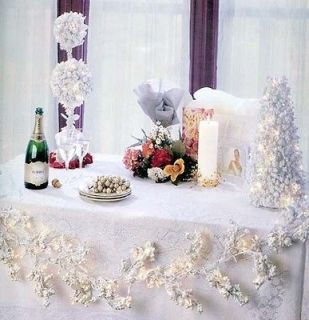 pre lit white berry garland with clear lights 179941