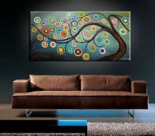 MODERN ABSTRACT HUGE LARGE CANVAS ART OIL PAINTING Style+FREE GIFT