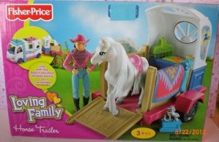 Loving Family Dollhouse New Pony / Horse Trailer Rider Girl & More