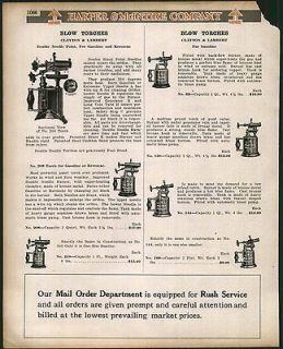 1923 AD C&L Clayton & Lambert Blow Torch Gas Gasoline Kerosene 208
