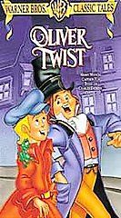 Oliver Twist Animated VHS, 1999, Warner Brothers Classic Tales Clam