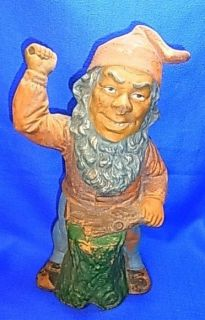 vintage german pottery garden yard gnome from germany time left