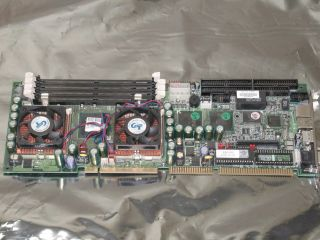 PORTWELL ROBO 668 SINGLE BOARD COMPUTER WITH DUAL CPU & HEATSINK