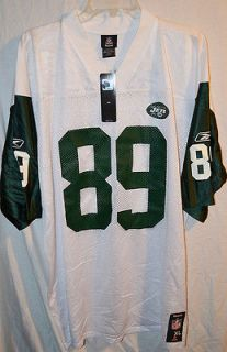 nfl new york jets cotchery large white football jersey nwt