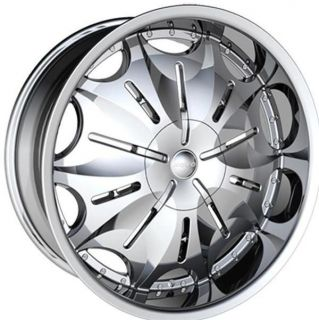 24 Wheels Rims Package FREE TIRES HOYO H3 CHROME SIERRA ESCALADE