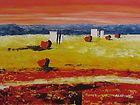 Original Oil Painting Western US Desert Joshua Rock 30