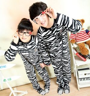 Sleepsuit Footed Pyjama Zebra Pajamas Halloween Costume Outfit Party