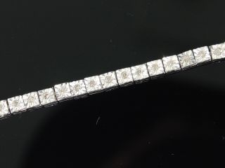 Row Diamond White Gold Finish Tennis Bracelet 7 5