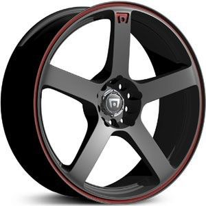 17 inch Motegi Racing MR116 Black Wheels Rims 5x100 40