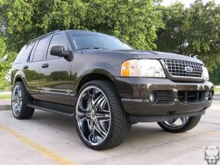Elite Chrome Rims Escalade H2 Yukon Silverado Donk 26 28 24