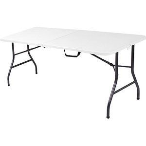 Rectangular 5 ft Long Center Fold Table Banquets Camping Receptions