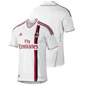 adidas acm ac milan mens xl football soccer away jersey shirt white