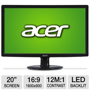 acer 20 wide 1600x900 led monitor vga dvi note the condition of this