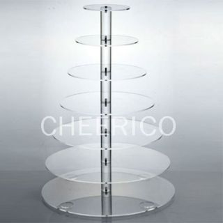 Tier Maypole Acrylic Cupcake Stand Cup Cake Tower Tree