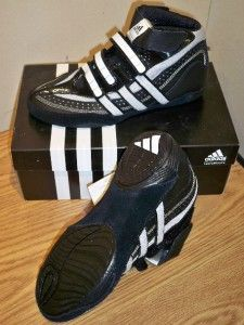 New with Box Adidas Extero J Youth Wrestling Shoes Black White Size 3