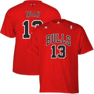 adidas Joakim Noah Chicago Bulls 13 Net Player T shirt Red XL