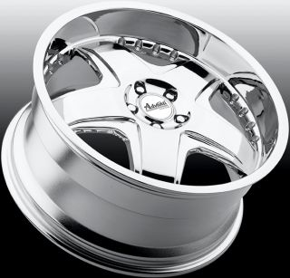 18X8 Advanti Racing Martelo 5x112 +45 Chrome Rims Wheels fit VW Golf