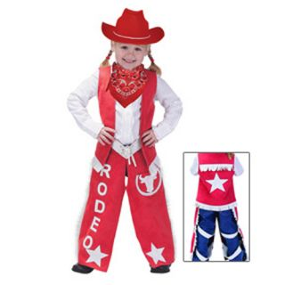 Aeromax Little Girls Red Cowgirl Halloween Costume 2 3