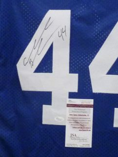 Ahmad Bradshaw Autographed Signed New York Giants Blue Size XL Jersey