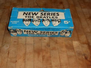 RARE 1964 Beatles Card Display Topps Box 1 Trading Card incl Must See