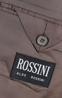 50L Aldo Rossini Brown Three Button Microfiber Suit