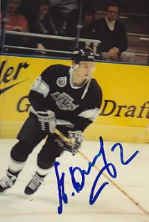 Alexei Zhitnik Los Angeles Kings Auto Signed 3x5