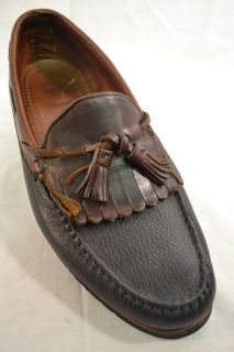 Allen Edmonds Nashua 9049 Black Brown Toe Tassled Loafer 9 5 D 1086